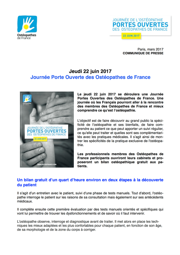 Couverture du Journal de mars 2017